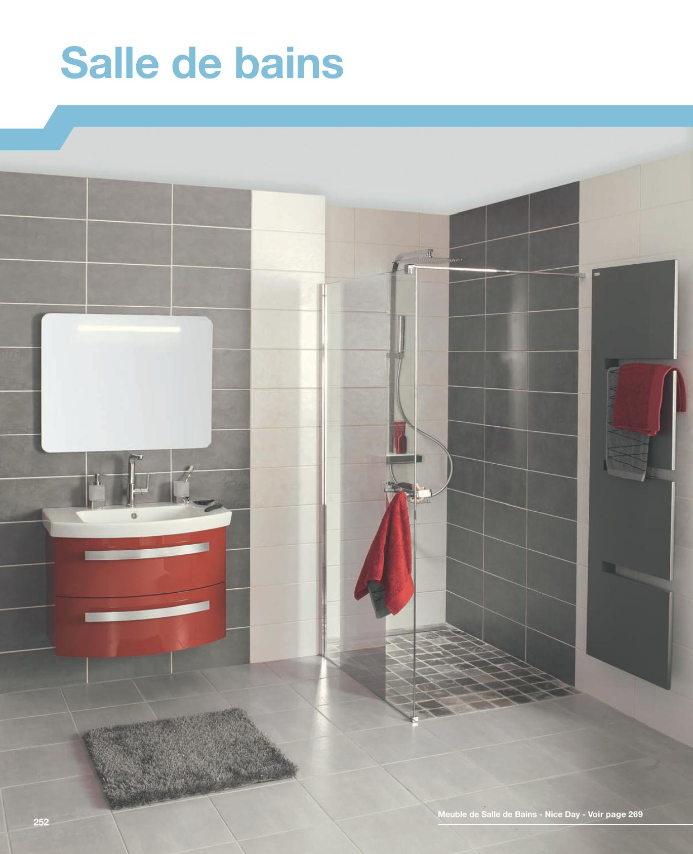 Salle de bain point p good design carrelage gris salon for Faience salle de bain gris clair