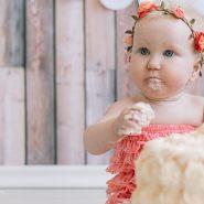 {family} Kuchenmatsche! Cakesmash-Shoot für kleine Prinzessinnen – Babyfotograf Franken