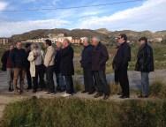 I tecnici provinciali a lavoro per l'attraversamento del torrente San Vincenzo