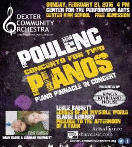 Poulenc Concerto for Two Pianos Michigan Orchestra