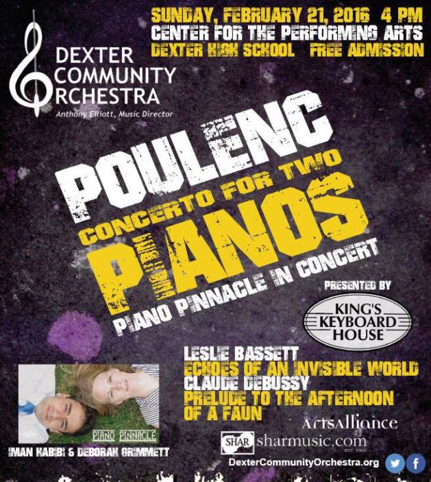 Poulenc Concerto for Two Pianos Michigan Orchestra