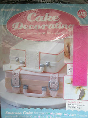DEAGOSTINI CAKE DECORATING Magazine ISSUE 95 WITH ORNATE STRIP     Deagostini Cake Decorating Magazine ISSUE 95 WITH ORNATE STRIP EMBOSSER