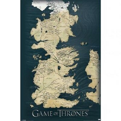 GAME OF THRONES   Poster  Map  210        6 40   PicClick UK Game Of Thrones Map 61cm x 91cm Large Wall Poster 210 Free UK P P