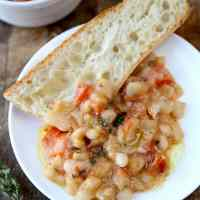 Bean Stew with Tomatoes and Thyme