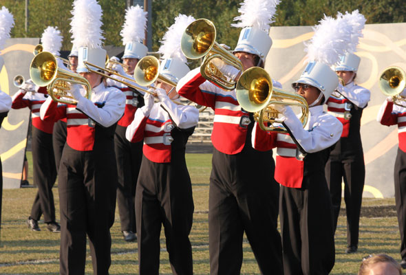 """Charlotte Catholic High School Marching Cougars perform """"Pay it Forward"""" at Providence Cup 2013."""