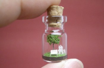 Tiny Sculptures in Tiny Bottle 1