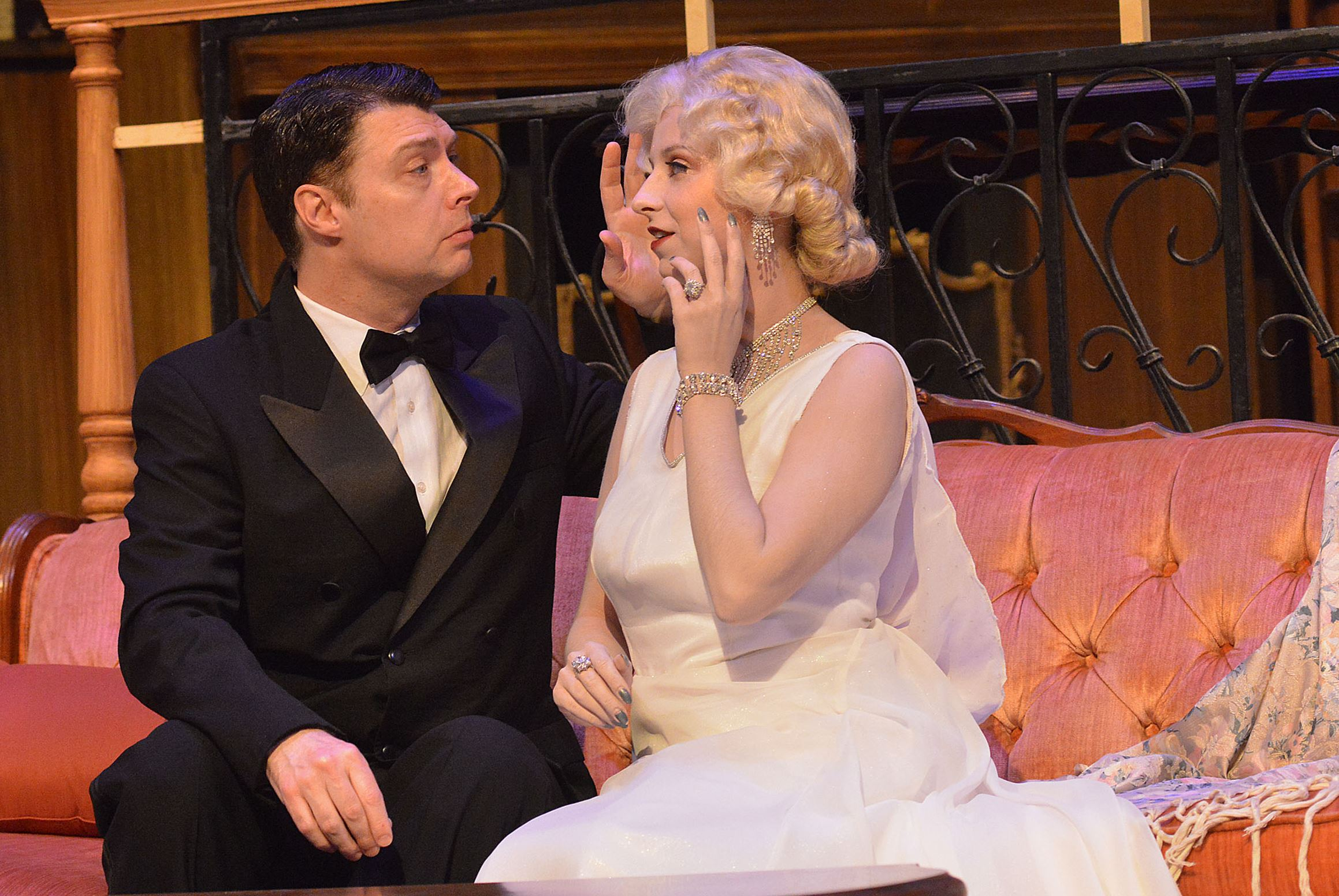 Dan Rodden and Vera Varlamov in Blithe Spirit at PICT Classic Theatre. Photo by Larry Roberts, Pittsburgh Post-Gazette