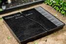 Divdaļīga melna granīta kapu apmale