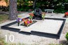Melna granīta kapu sētiņa ar betona pamatu