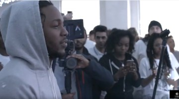Brighter Sounds hosts Kendrick Lamar Cypher in Manchester Reebok surprises youth and cypher breaks out with Kendrick Lamar