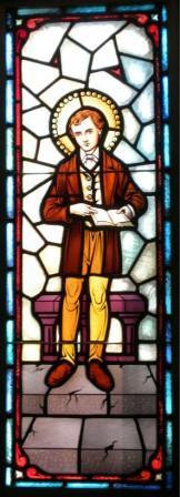 St Dominic Savio stained glass