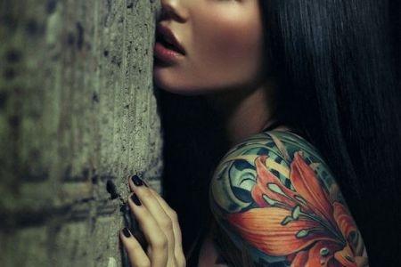flower women tattoo