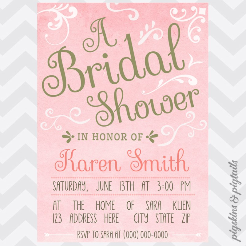 Large Of Pink And Gold Baby Shower Invitations