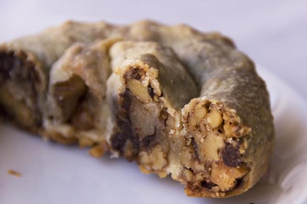 Chocolate and walnut strudel
