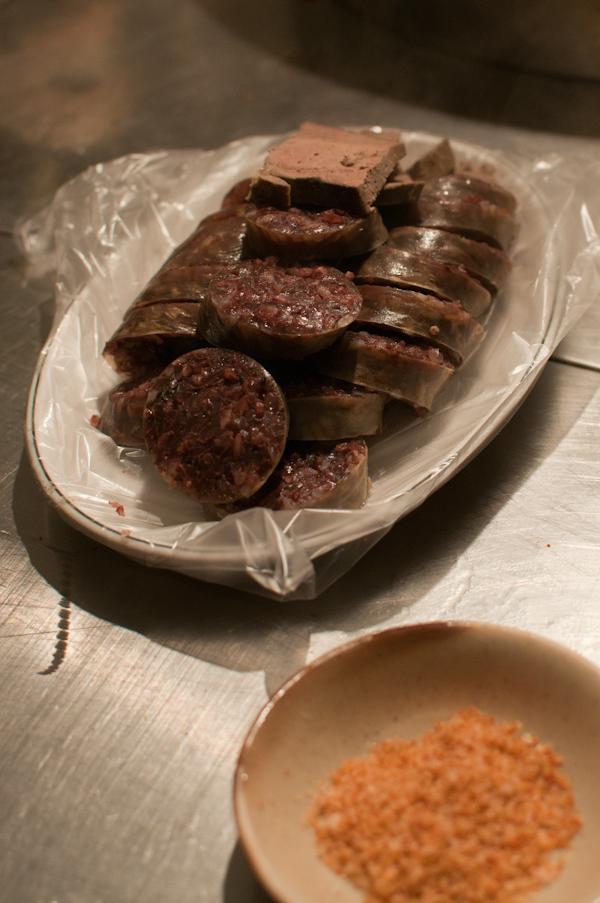 Sundae, Korean blood sausage.