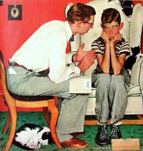 The Birds and the Bees, by Norman Rockwell. (Image via pinterest)
