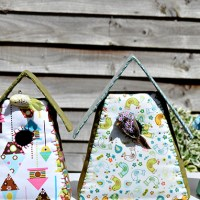 Homemade Fabric Birdhouses