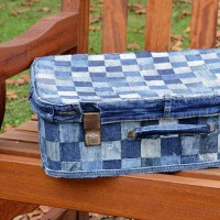 Easy No Sew  Denim Suitcase Tutorial
