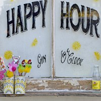 Happy Hour Upcycled Window