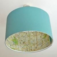 Ikea Lamp Hack - Rismon Map Lampshade
