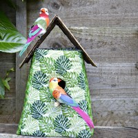 Tropical Fabric Birdhouse Decoration