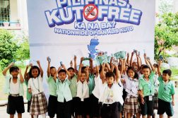Children celebrate being kuto free!