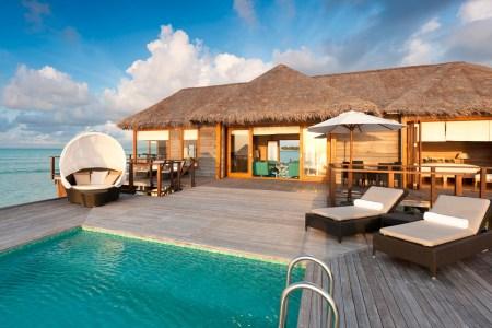 sunset water villa conrad maldives