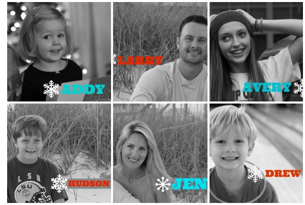 Personalized Christmas Picture Tags