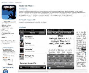 Kindle per iPhone si può scaricare gratuitamente nell'Apple Store