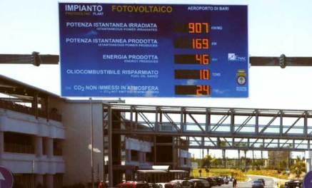 Impianto fotovoltaico nell'aeroporto di Bari