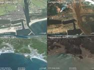 Prima e dopo terremoto e tsunami