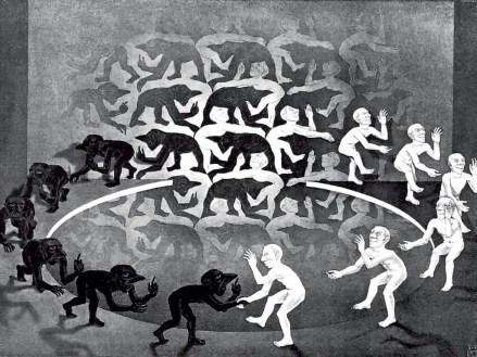 The Encounter (M.C. Escher, 1944)