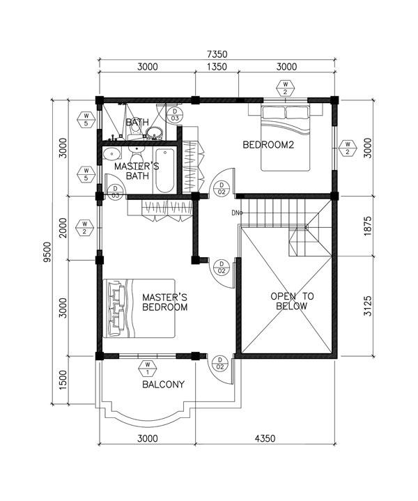 2 Bedroom Open Floor Plans