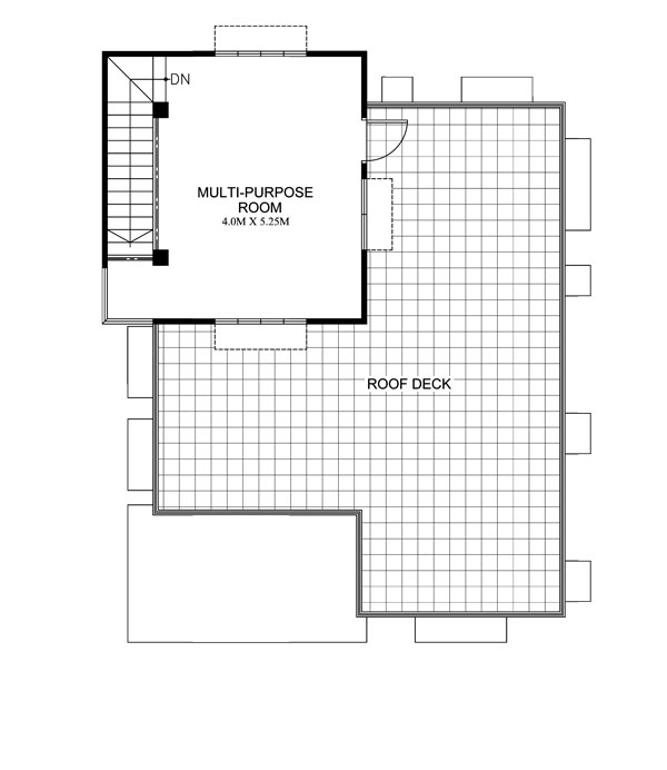 maryanne one storey with roof deck shd 2015025 pinoy On house floor plan with roof deck