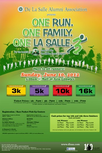 One Run One Family One La Salle Run 3 race results and photos