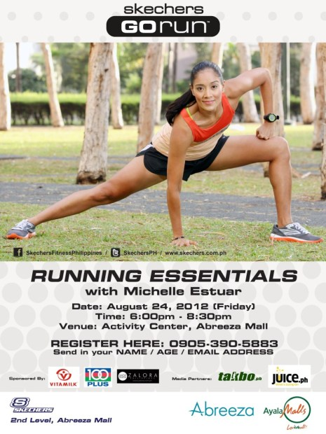 Michelle Estuar Running Essentials Poster Abreeza  Mall