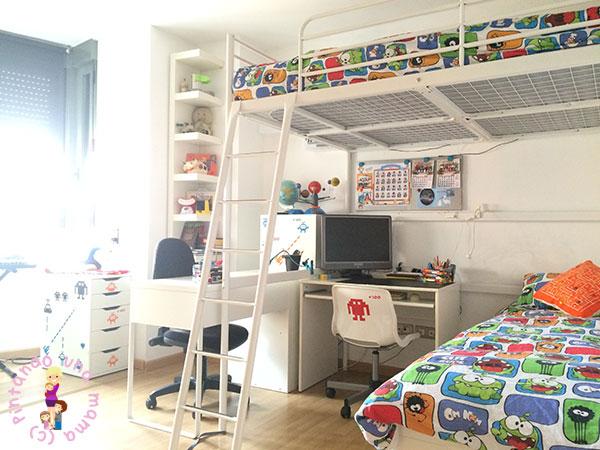 Habitaci n completa para dos ni os de ikea pintando una - Ikea ninos habitaciones ...