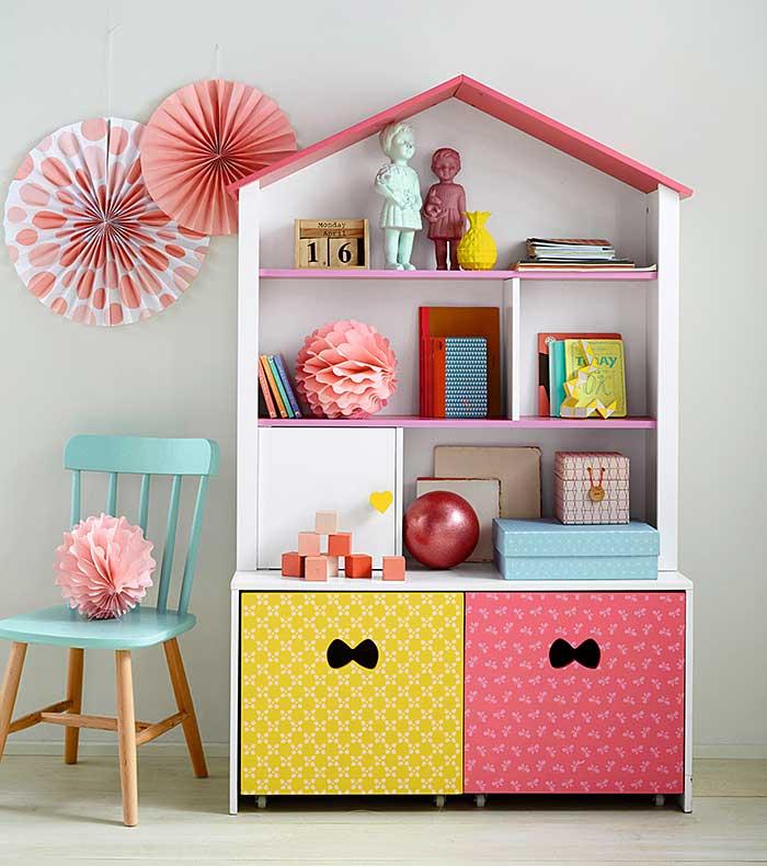 Todo en orden con los muebles de almacenaje de vertbaudet for Pegatinas infantiles para muebles