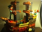 elf on a shelf - pirate ship