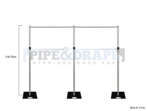 3 UP KIT HALF HEIGHT 6-10ft PIPE AND DRAPE WITH MEASURE