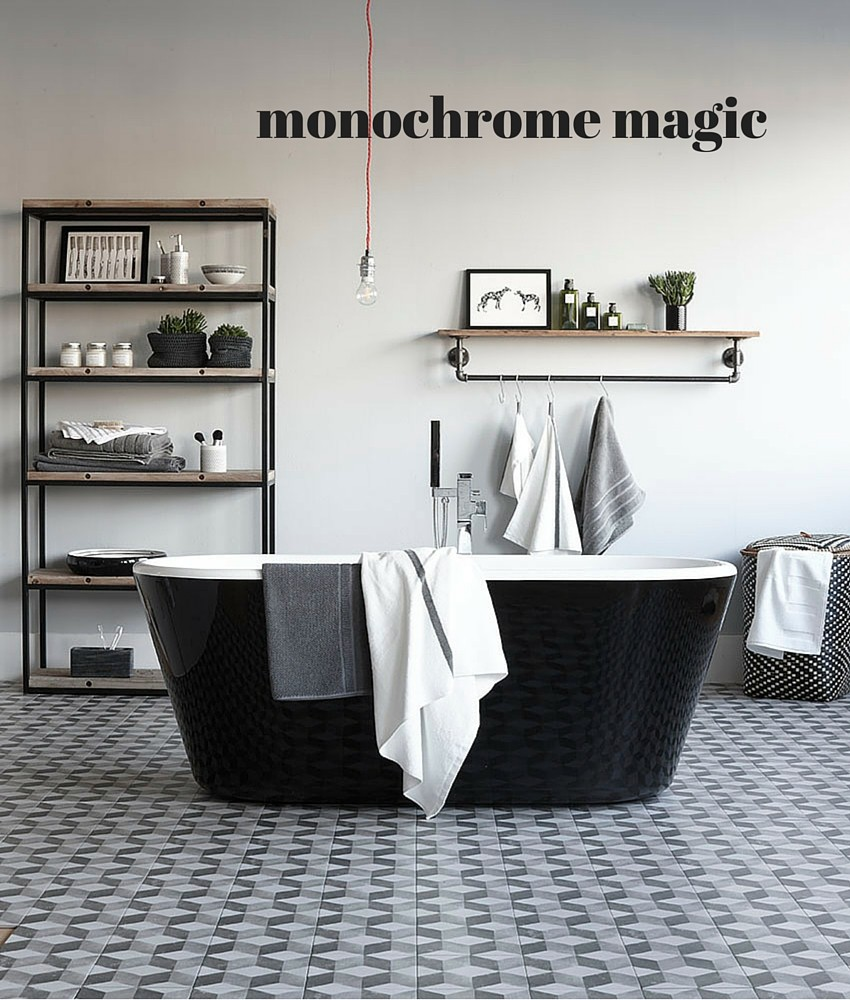 Monochrome bathroom for Homestyle magazine