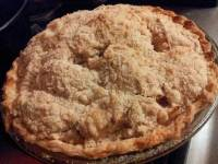 Finished Apple Crumb Pie