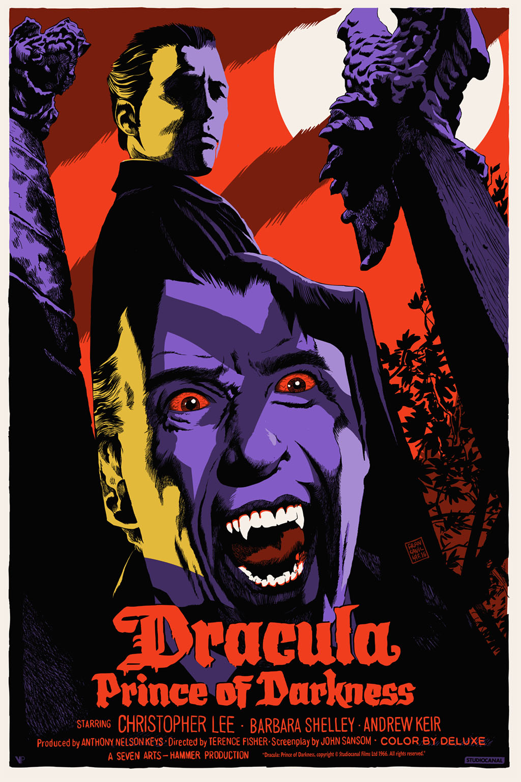 Dracula: Prince of Darkness Print by Francesco Francavilla Revealed by Vice Press