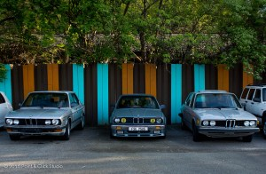 BMW e28 535iSE euro, BMW e30 325i, BMW e12 528
