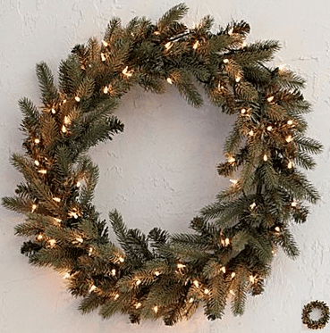 jcpenny holiday wreath blue spruce prelit