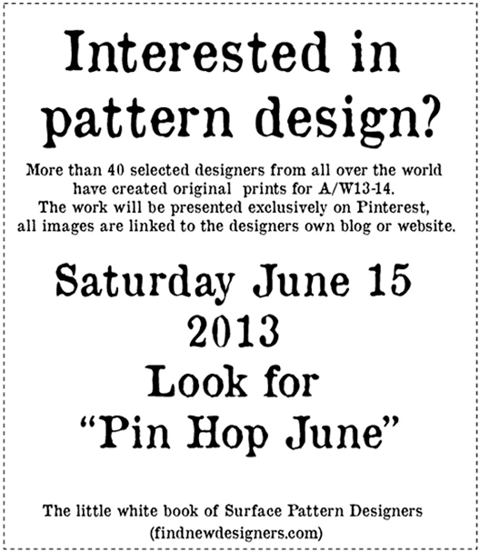 Surface Pattern Design Pin Hop | Pitter Pattern | Veronica Galbraith