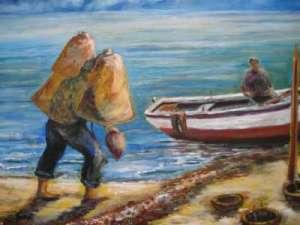 211 - Pescatore con nasse -400