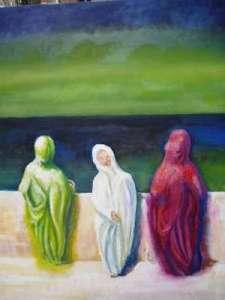 261 - Donne Arabe difronte al maree-400