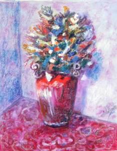 304 - Vaso rosso  50x70con fiori_edited