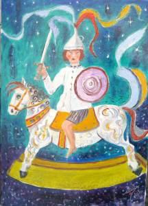 313 - Sul cavallo a dondolo 35x50